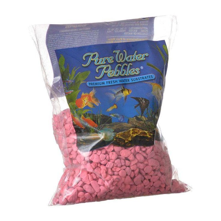 Pure Water Pebbles Aquarium Gravel Neon Pink is a natural freshwater aquarium gravel substrate. Fish-safe 100% acrylic coating. Non-toxic and colorfast, will not alter aquarium chemistry. Ideal for aquariums, ponds, terrariums, crafts, landscaping and more.