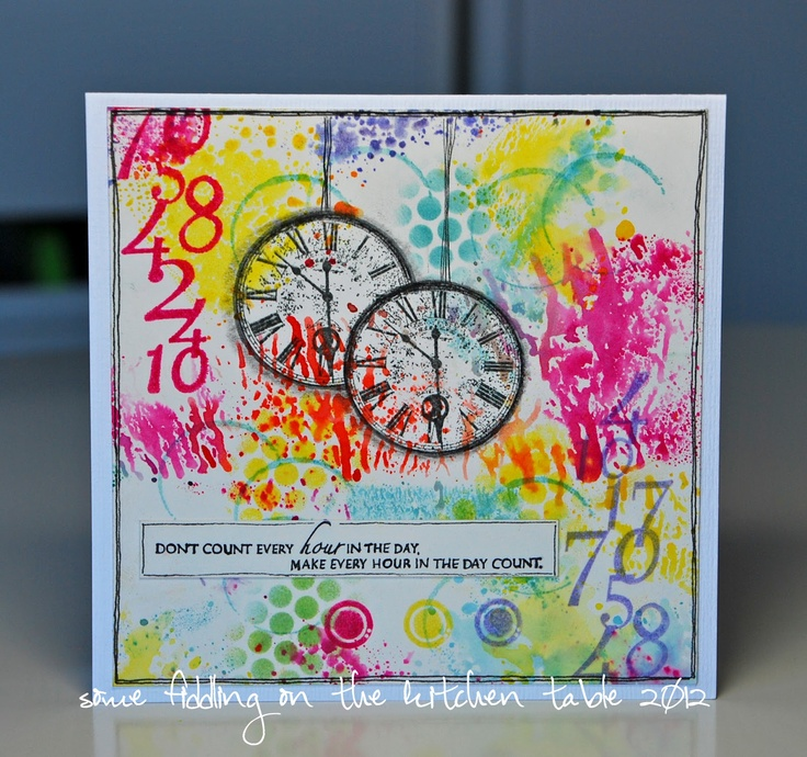 Some fiddling on the kitchen table: Art Journey Clocks