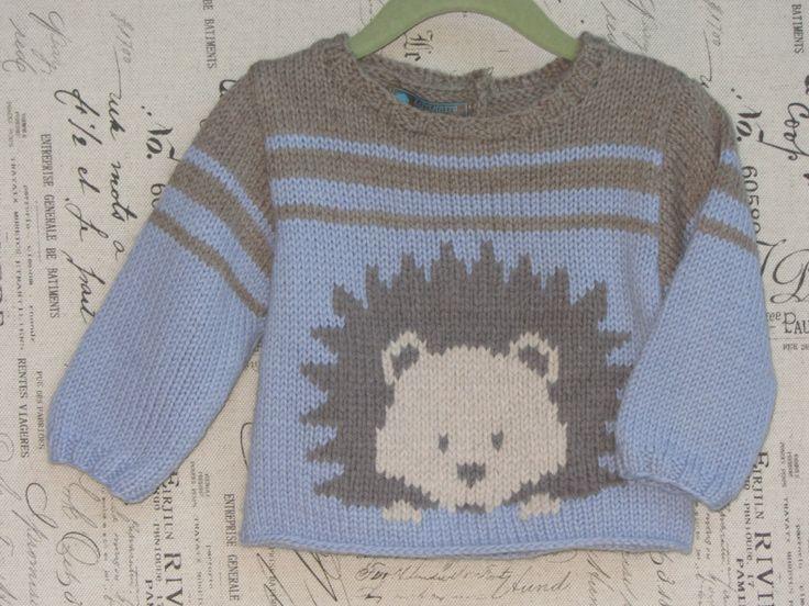 Ручной вязки медведь свитер во всех натуральной пряжи для по KNITLEBITS