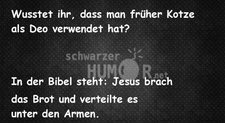 Deodorant – Schwarzer Humor – Jesus Witze – Bibel Witze   – Fuuuunnnnyyy