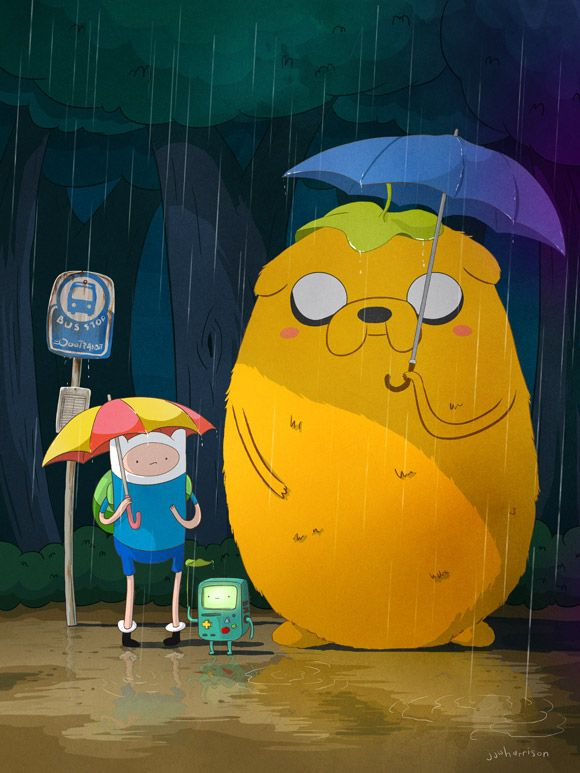 """My Neighbor Jake"" thank you JJ Harrison #AdventureTime #Totoro #Anime"