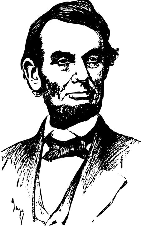 Abe, Abraham Lincoln, America, Face, History, L, Man