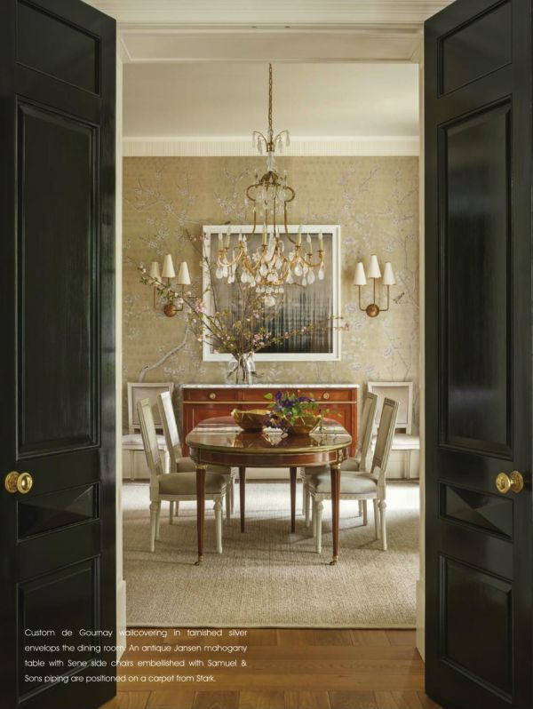 Suzanne kasler milieu la dolce vita dining room for S s columbia dining room