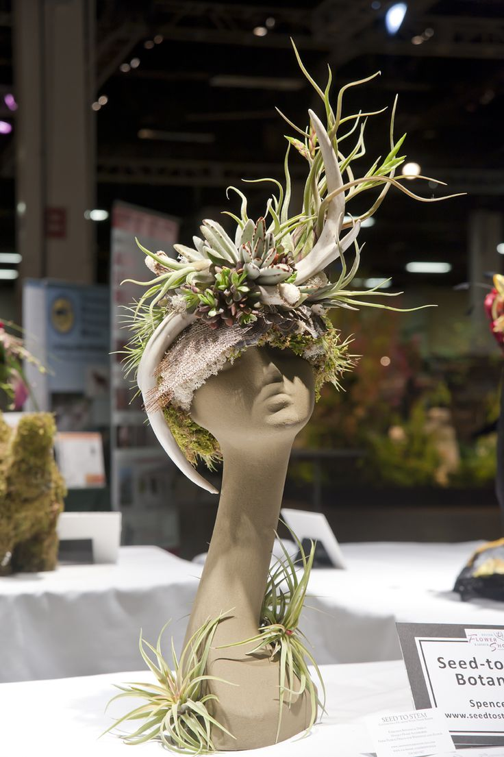 Boston Flower  Garden Show  - buy mannequin heads at www.MannequinMadness.com for your floral headdress creations.