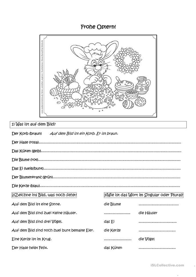 Frohe Ostern! | Worksheets