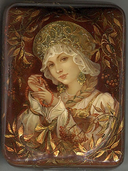 RUSSIAN LACQUER BOX ART.