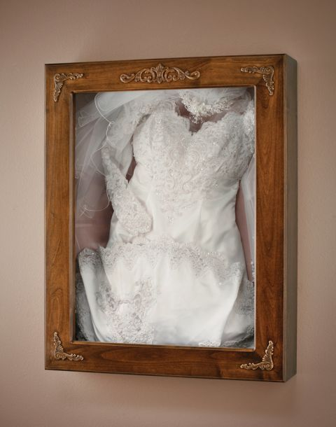 How to display wedding dress at home google search for for Wedding dress shadow box