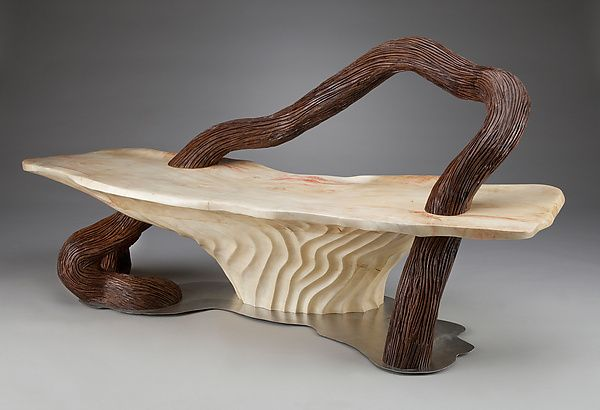 Serpentine Bench by Aaron Laux: Wood Bench available at www.artfulhome.com