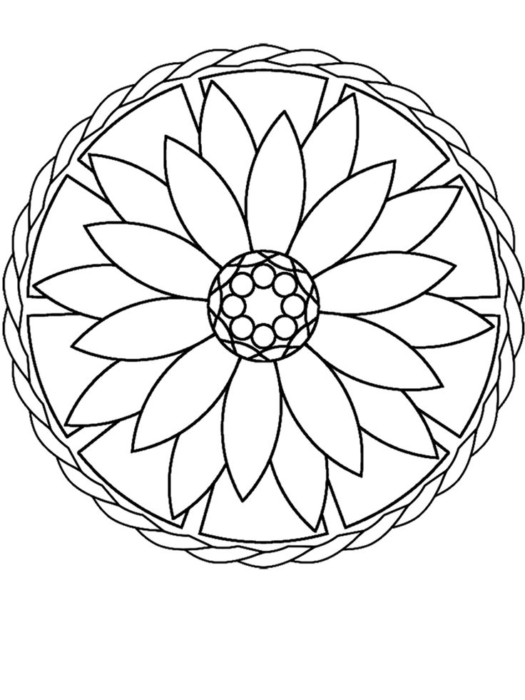 69 best Coloring Book Mandalas images on Pinterest | Colouring ...