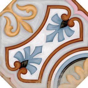 VODEVIL: Octógono Diglas Multicolor - 20x20cm. | Pavimento - Porcelánico | VIVES Azulejos y Gres S.A.