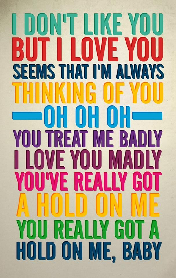 You Really Got a Hold of Me | Smokey Robinson, The Miracles, and The Beatles ... Oh boy, does this make me think of a certain someone. :/
