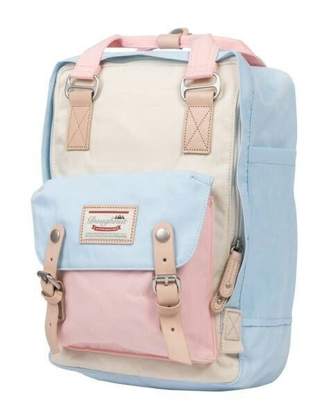 8fa96fdb84 DOUGHNUT Macaroon Backpack - Cream x Iceberg x Sakura - Brand New with Tags