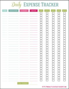 Best 25 expense tracker ideas on pinterest budget planner daily expense tracker pronofoot35fo Choice Image