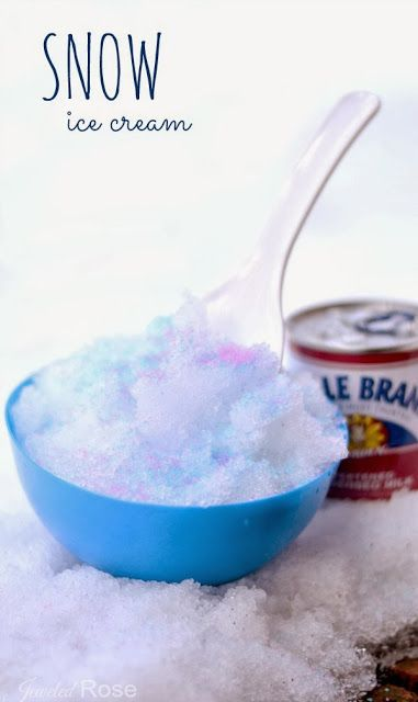 Snow Ice Cream - easy to make and SO YUMMY!  My family looks forward to this special Winter treat every snowfall.