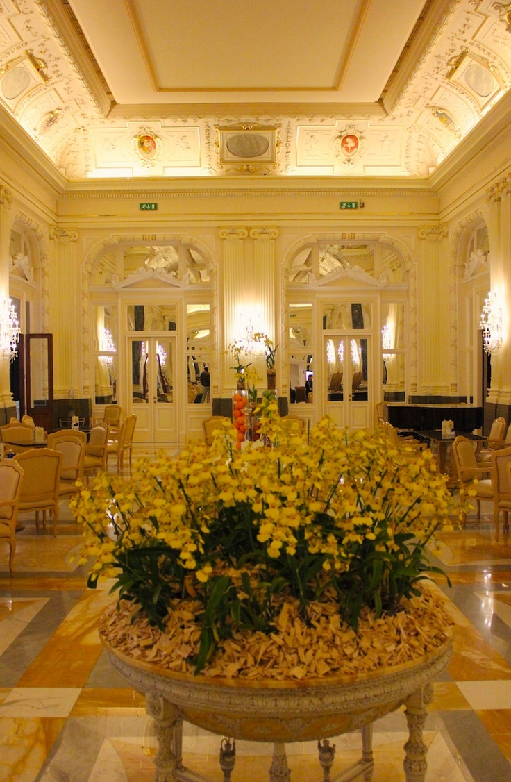 March 17, 2013. The majestic Prague Boscolo Carlo IV boasts a stunning palatial lobby.  www.traveladept.com
