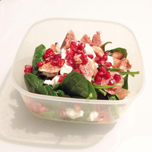 Spinaziesalade met geitenkaas vijgen en granaatappel eten pinterest diners rencontr et - Recept frederic anton ...