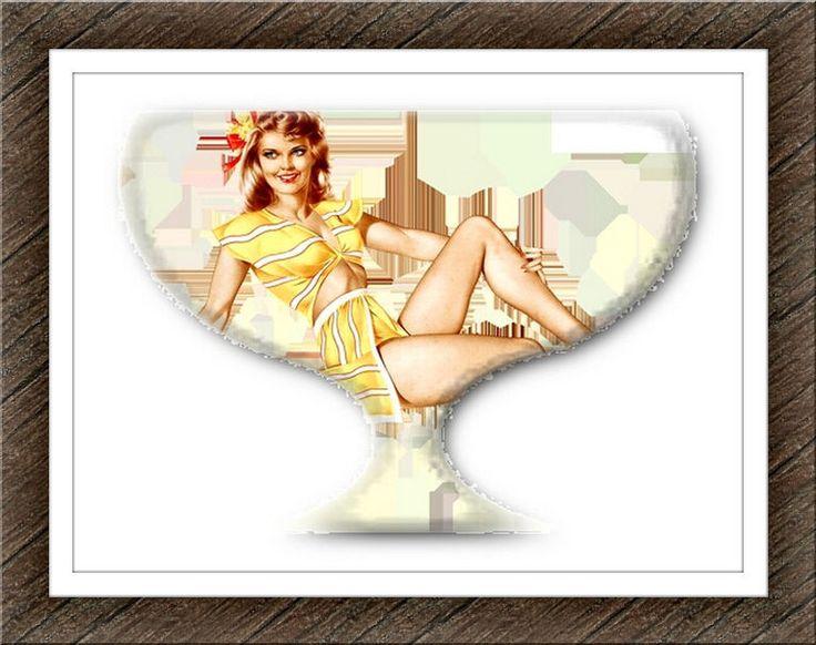 Digital Art/Desktop Wallpaper/Girl in the Glass/Vintage Photo