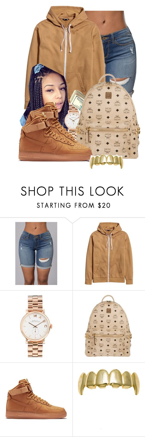 """Flexing on my X...."" by trendsettajay ❤ liked on Polyvore featuring Marc by Marc Jacobs, MCM and NIKE"