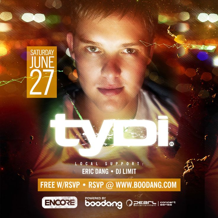 Saturday, June 27th - tyDi @ Encore — EDM Canada