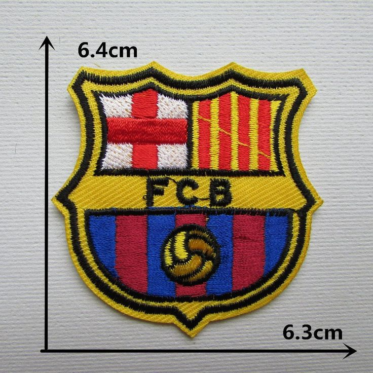 FairyTeller Barcelona Team Logo Patch Hot Melt Adhesive Clothing Patch Applique Embroidery Blossom Diy Accessories 1Pcs ** Click on the image for additional details.