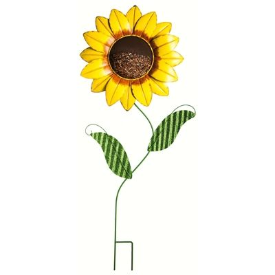 Nice Add Some Extra Sunshine To Your Garden Space With This Whimsical Stake  Birdfeeder! Seed Fits Inside The Sunflower Face And Is Easily Filled From  The Back.