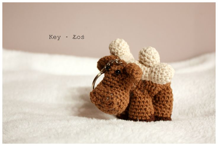 Amigurumi Moose  #amigurumi #amigurumis #crochet #moose #brelok #szydełkowy #łoś