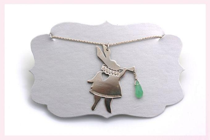 Silver Bunny Necklace by Janine Binneman Jewellery Design