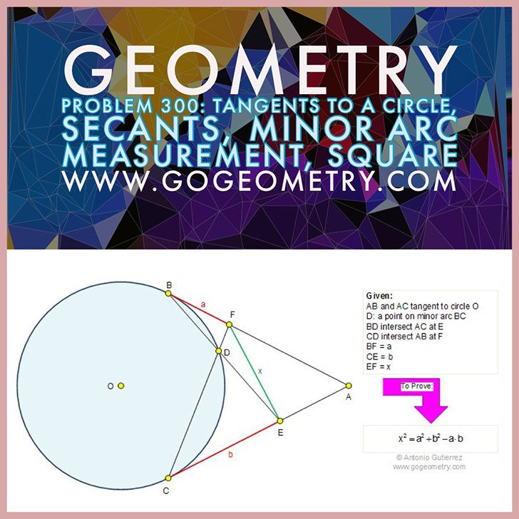 Poster And Typography Of Problem 300 Tangents To A Circle Secants