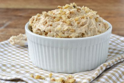 Banana Bread Dip -  cream cheese, banana quick bread mix, butter, milk, vanilla, chopped walnuts. Mix all ingredients (except nuts), with blender until creamy. Stir in nuts.  Refrigerate until ready to serve. Serve with graham crackers, vanilla waver cookies, etc...