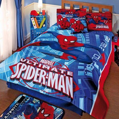 #Spiderman #Recamara #Kids #Ideas #Decoracion #Color #Hogar #Edredon #Colcha #Cama #IntimaHogar