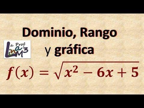 Dominio Y Rango De Una Función Radical Ejercicio 2 La Prof Lina M3 Youtube Funciones Matematicas Matematicas Faciles Matematicas