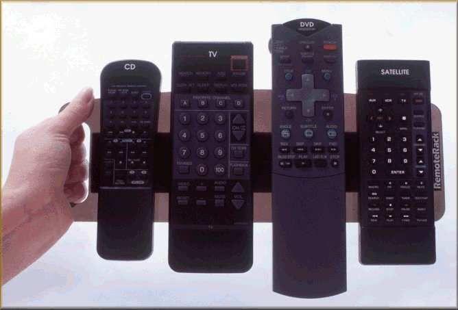 Remote Control Holder Organizer Caddy * RemoteRack * Universal Remote Control