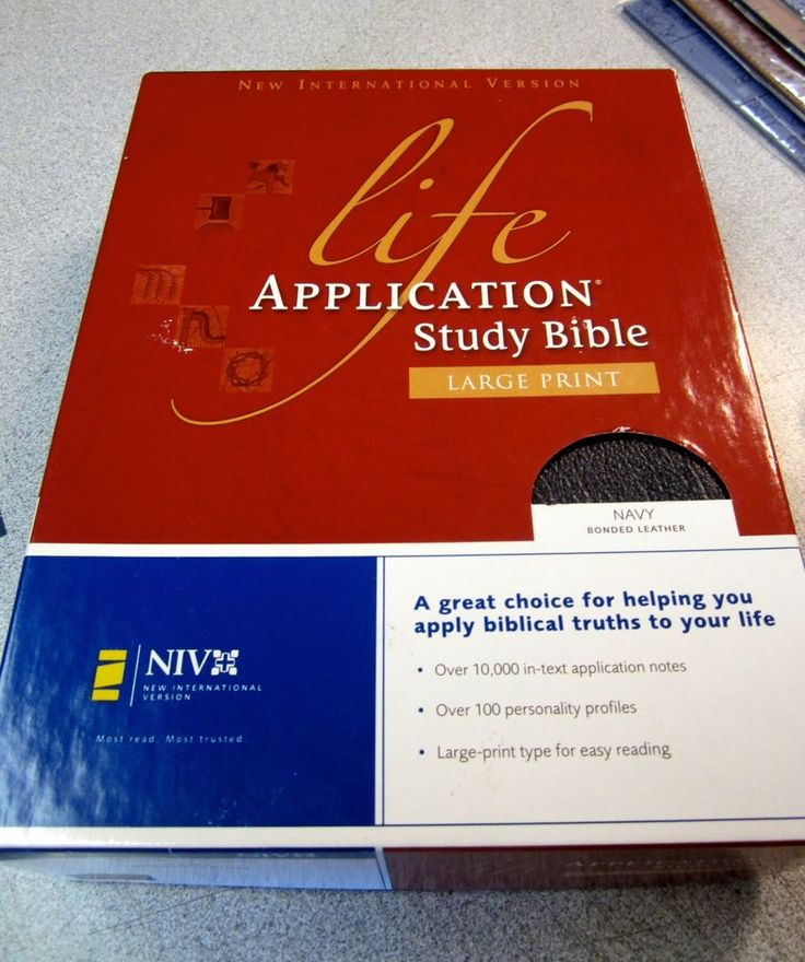 NIV Life Application Study Bible, Hardcover: 9781414359748 ...