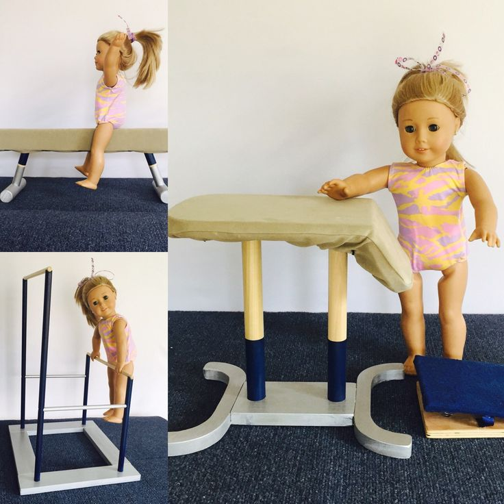 American Girl Gymnastics Equipment by BG Wood Toys. www.buggutswoodtoys.com