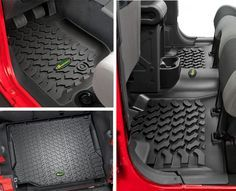 Quadratec® Ultimate All Weather Floor Liner Triple Combo for 07-12 Jeep® Wrangler Unlimited JK 4 Door