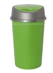 Touch Top Bin Kitchen Apple Green Plastic 45 Litre Dustbin / Home / Rubbish Bin