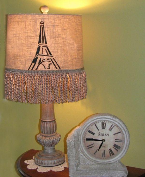 kreative handgemachte Lampen paris uhr idee