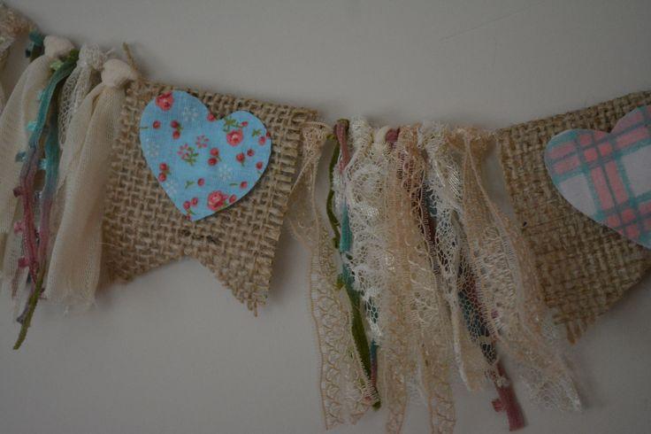 Guirnalda vintage banderines guirnaldas de tela - Guirnaldas de tela ...