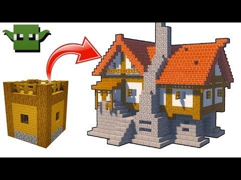 Minecraft Medieval House Tutorial EASY X BUILDING SYSTEM - Coole minecraft hauser tutorial