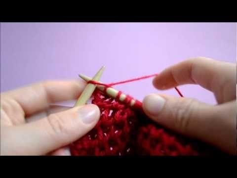 Le point d'alvéole au tricot - YouTube