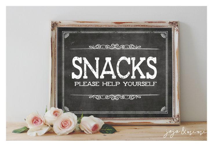 Image result for wedding snack table sign