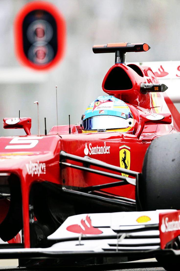 Fernando Alonso in the Ferrari F2012 at Interlagos '12