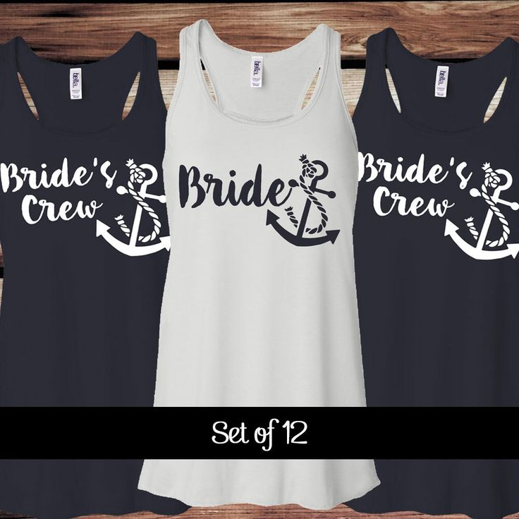 12 Brides Crew Bachelorette Party Tank Tops
