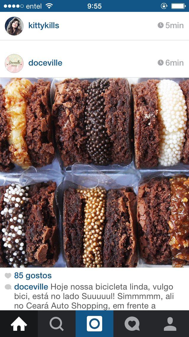 Sanduichinhos de brownie
