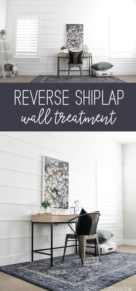 Reverse Shiplap Wall Treatment – My Sister's Suitcase