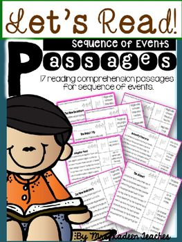 These sequence of events cut and paste readers are fun and easy to use as you enhance your lessons about sequence of events. Students read the story and sequence with the words in this unit instead of pictures. Some of the stories also include a question to answer and cite from the text .