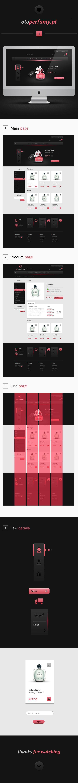 PERFUME SHOP by Michal Parulski #e-commerce #ecommerce #commerce #design #web #webdesign #shop #online #black #pink #perfume #perfumes #sale #sales #grid #presentation