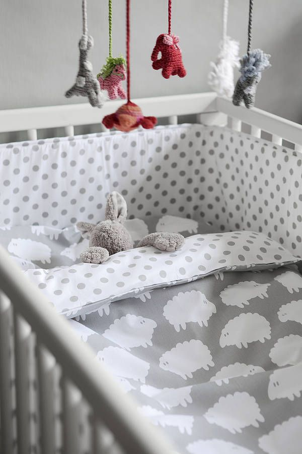 Cot Bed Duvet Cover and Pillowcase by Nubie Modern Kids Boutique £40 Not on the High Street