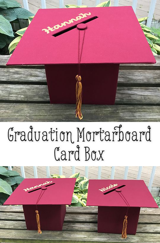 Mortarboard Graduation Party Card Box