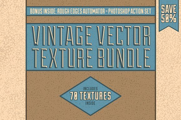Vintage Vector Texture Bundle by Matt Borchert on @creativemarket